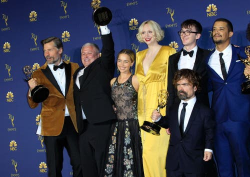 Die Fantasy-Serie «Game of Thrones» gewann in der wichtigsten Kategorie des Abends «Beste Drama-Serie» an den 70. Emmy Awards. (Bild: EPA/Nina Prommer, 17. September 2018)