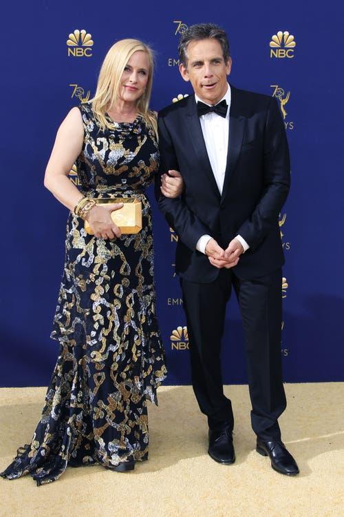 Patricia Arquette und Ben Stiller an den Emmys 2018. (Bild: EPA/Nina Prommer, 17. September 2018)
