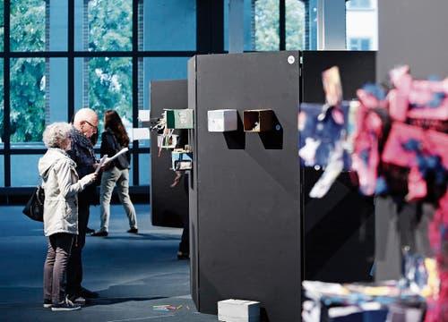 Ein Blick in die Ausstellung «Frisch verpackt» in der Shedhalle, Zug. (Bild: Stefan Kaiser (Zug, 1.September 2018))
