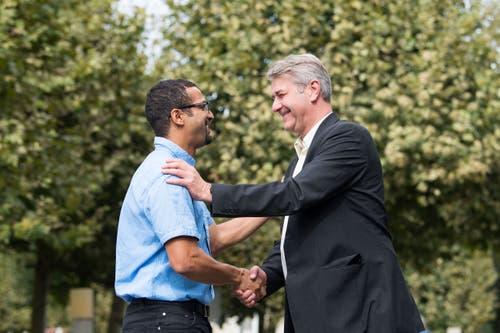 Brahim Aakti (links) und Patrick Schnellmann arbeiten künftig eng zusammen.