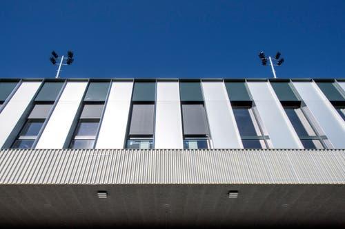 Ein Büros im Stadion untergebracht. Bild: Pius Amrein (Kriens, 26. September 2018)