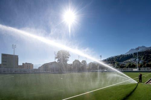 Auch eine Sprinkleranlage ist fest eingebaut. Bild: Pius Amrein (Kriens, 26. September 2018)