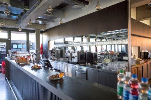 Blick in den Catering-Bereich im neuen Stadion. Bild: Pius Amrein (Kriens, 26. September 2018)