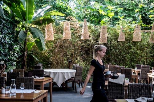 Blick ins Restaurant «Mahoi» im Tropenhaus Wolhusen. (Bild: Nadia Schärli, 27. September 2018)