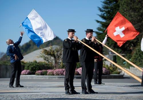 Das Grand Opening des Bürgenstock Hotels & Resort Lake Lucerne wird musikalisch umrahmt. (Bild: Corinne Glanzmann (Bürgenstock, 28. September 2018))