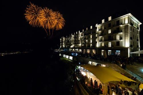 Rund 1000 Gäste waren an der offiziellen Eröffnung der grössten Zentralschweizer Tourismusanlage mit dabei. (Bild: Philipp Schmidli, 28. September 2018)