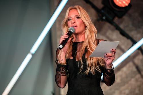 Als Moderatorin führte Ex-Miss-Schweiz Christa Rigozzi die Gäste durch den Abend. (Bild: Philipp Schmidli, 28. September 2018)