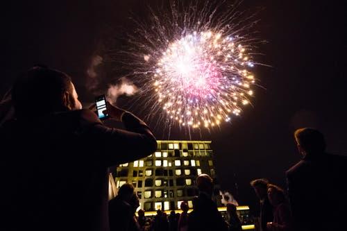 Den Gästen schien das Feuerwerk zu gefallen. (Bild: Philipp Schmidli, 28. September 2018)