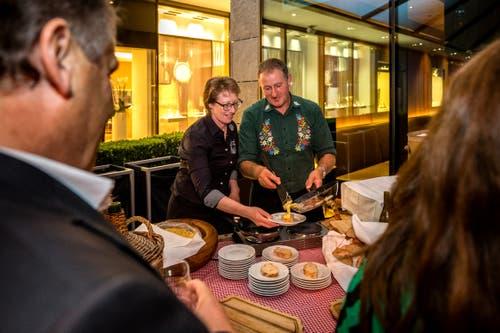 Daneben kam auch die einheimische Küche nicht zu kurz. (Bild: Philipp Schmidli, 28. September 2018)