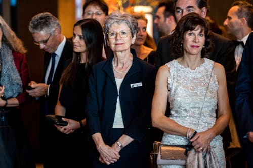 Verena Briner, medizinische Direktorin im neuen Waldhotel, an der Eröffnungsparty. (Bild: Philipp Schmidli, 28. September 2018)