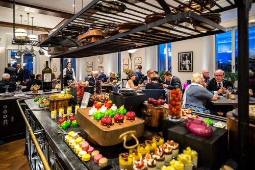 Blick aufs Dessert-Buffet. (Bild: Philipp Schmidli, 28. September 2018)