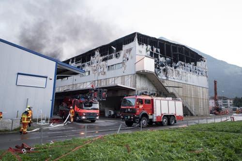 Die zerstörte Halle (Bild: Urs Flüeler / Keystone)