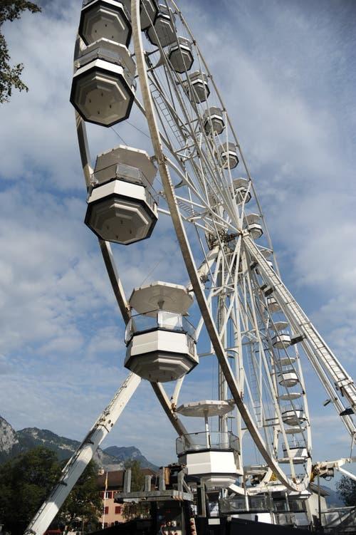 Das Riesenrad gehört zu den Hauptattraktionen an der «Uri 18». (Bild: Urs Hanhart, Altdorf, 2018)