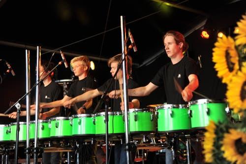 Das Perkussionsensemble der Musikschule Uri zeigte ihr Können. (Bild: Urs Hanhart, Altdorf, 8. September 2018)