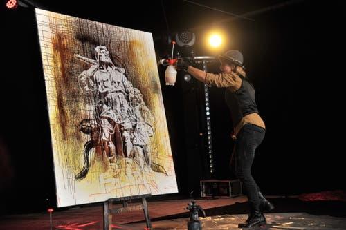 Speed Painting mit Corinne Sutter (Bild: Urs Hanhart, Altdorf, 9. September 2018)