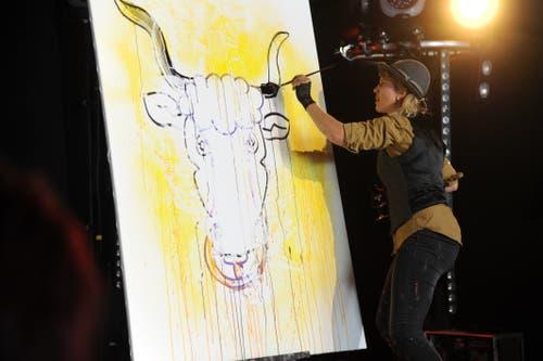 Speed Painting mit Corinne Sutter. (Bild: Urs Hanhart, Altdorf, 9. September 2018)