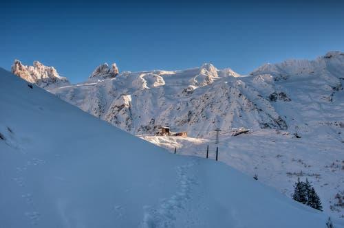Winterlandschaft auf der Fürenalp. (Bild: Caroline Pirskanen, 7. Januar 2019)