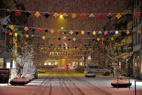 Willisau ist trotz Schnee bereit für die Fasnacht. (Bild: Alfred Herzog, 9. Januar 2019)