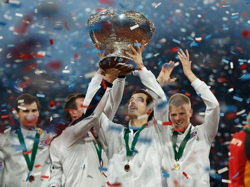 Als Captain holte Andy Murray 2015 mit Grossbritannien den Davis Cup (Bild: KEYSTONE/AP/ALASTAIR GRANT)