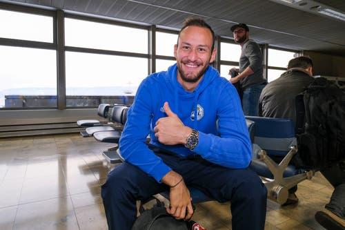 Mirko Salvi kann auch gut gelaunt. (Bild: Martin Meienberger, 11. Januar 2019)