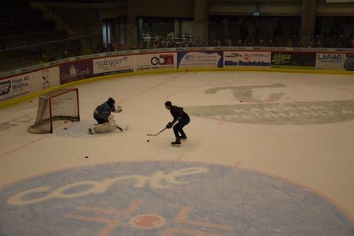 Marc Flückiger macht auch auf dem Eis eine gute Figur.