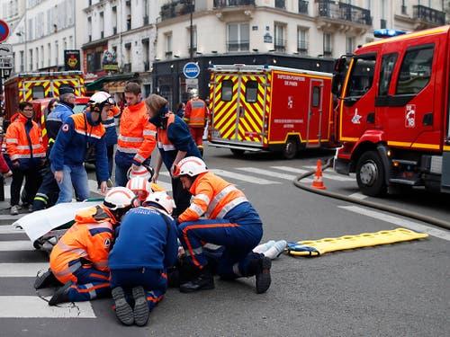 Die Explosion in der Pariser Innenstadt hat vier Tote gefordert. (Bild: KEYSTONE/AP/THIBAULT CAMUS)