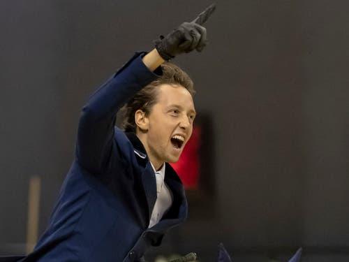 Geschafft! Martin Fuchs lässt seiner Freude freien Lauf. (Bild: KEYSTONE/GEORGIOS KEFALAS)