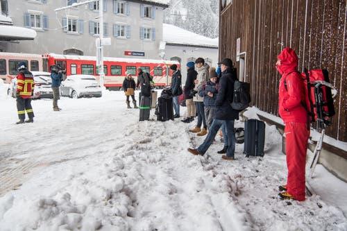 Das Dorf ist bis auf den Bahnbetrieb von Göschen abgeschnitten. (Bild: Nadia Schärli (Andermatt, 14. Januar 2019))