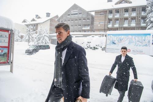 Touristen in Andermatt. (Bild: Nadia Schärli (Andermatt, 14. Januar 2019))