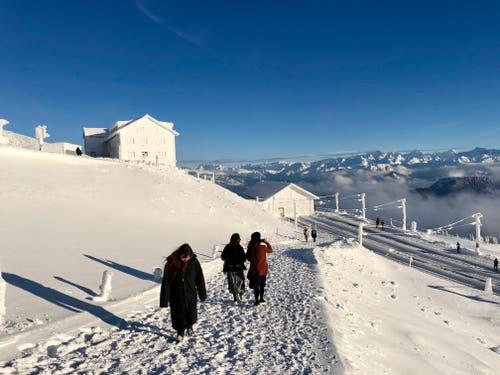 Echt Winter auf Rigi Kulm. (Bild: Markus Brülhart, 15. Januar 2019)