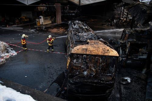 Der Schaden geht in die Millionen. (KEYSTONE/Gian Ehrenzeller, 17.1.2019)