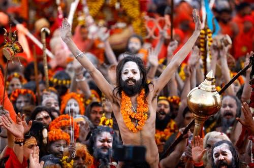 150 Millionen Menschen, die grösste Menschenansammlung, die die Welt je gesehen hat, werden erwartet. (AP Photo/Rajesh Kumar Singh)