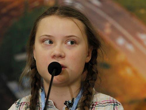 Die junge Schwedin Greta Thunberg ist Vorbild der Schweizer Jugendlichen, die für das Klima auf die Strasse gehen. (Bild: KEYSTONE/AP/CZAREK SOKOLOWSKI)