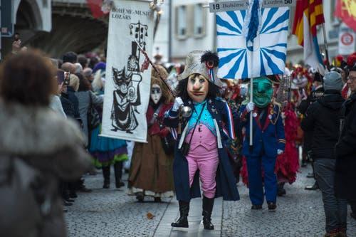 Impressionen von der Fritschivater-Abholung. (Bild: Dominik Wunderli, Luzern, 19. Januar 2018)
