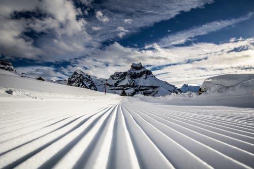 Perfekte Piste - die Skifahrer freuts! (Bild: Heidi Blum (Engelberg, 17. Januar 2019))
