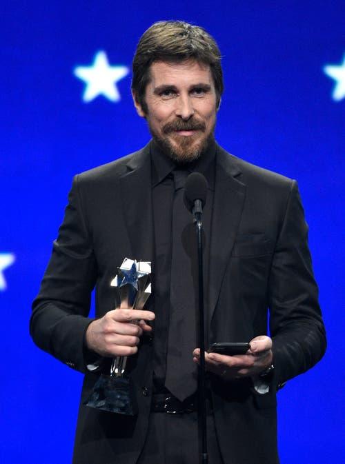 Christian Bale ist für seine Rolle in «Vice »für den Oscar als bester Hauptdarsteller nominiert. (Bild: Keystone/Chris Pizzello)