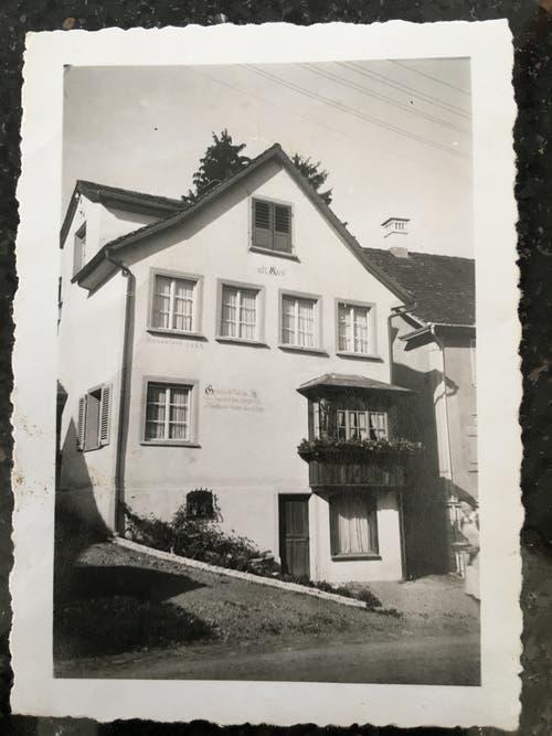 Noch heute steht das Haus, in dem das Skilädeli beheimatet war.