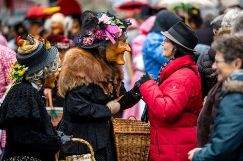 Auch die Bevölkerung genoss den urchigen Anlass. (Bild: Manuela Jans-Koch, Kriens, 26. Januar 2019)