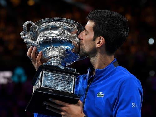 Mit seinem siebten Sieg am Australian Open ist Novak Djokovic alleiniger Rekordhalter in Down Under (Bild: KEYSTONE/EPA AAP/JULIAN SMITH)
