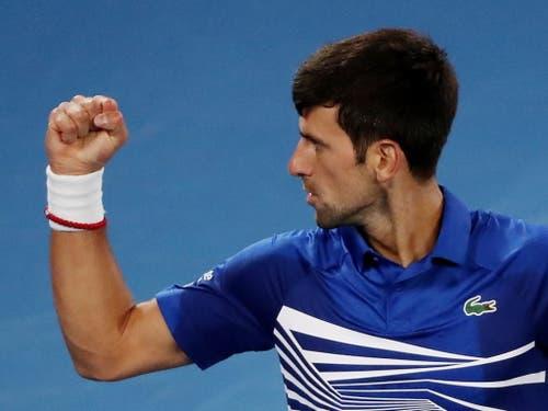 Eindrückliche Machtdemonstration: Novak Djokovic liess Rafael Nadal im Final des Australian Open nicht den Hauch einer Chance (Bild: KEYSTONE/EPA AAP/DAVID CROSLING)