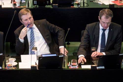 «Es ist weder Aufgabe noch Ziel der Regierung, einen Nobelpreis in Ökonomie zu erhalten.» Dies sagte Finanzdirektor Marcel Schwerzmann auf eine Aussage von Urban Frye (Grüne, Luzern) in der Diskussion über das Kapitaleinlageprinzip.