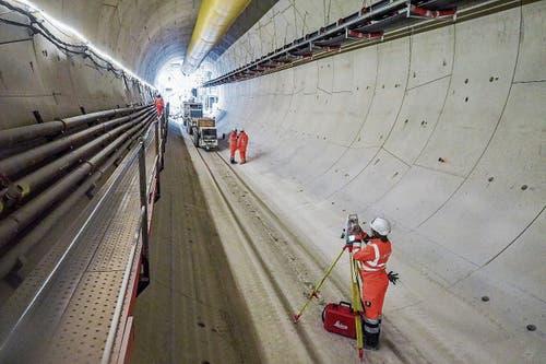 Der erste Tunnelkilometer im Los der Linie 15 Süd, der erstellt worden ist. (Bild: Peter Hummel)