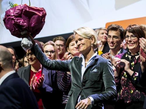 Soll für die CVP Luzern von der grossen in die kleine Kammer wechseln: Nationalrätin Andrea Gmür freut sich über die Nomination als Ständeratskandidatin. (Bild: KEYSTONE/ALEXANDRA WEY)