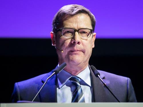 Holte in den zwei ersten Wahlgängen am wenigsten Stimmen und schied aus: Ludwig Peyer. (Bild: KEYSTONE/ALEXANDRA WEY)