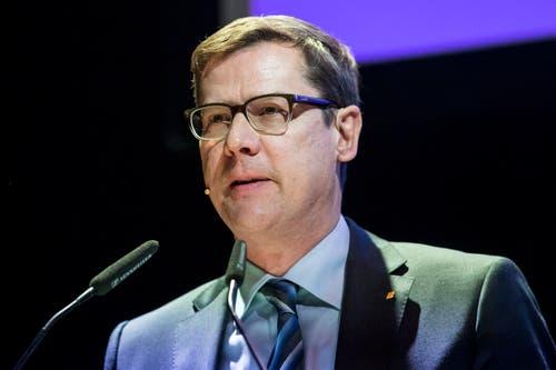 Ludwig Peyer, CVP-Fraktionschef Luzerner Kantonsrat, schied im zweiten Wahlgang mit 103 Stimmen aus. (Bild: Alexandra Wey/Keystone (Sursee, 29. Januar 2019))