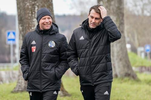 Der neue Assistent von Cheftrainer René Weiler: Manuel Klökler (links). (Bild: Andy Müller / Freshfocus (Luzern, 2. Januar 2019)