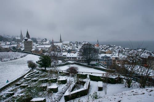 Altstadt im Winterkleid. (Bild: Priska Pirskanen (Zug, 5. Januar 2019))