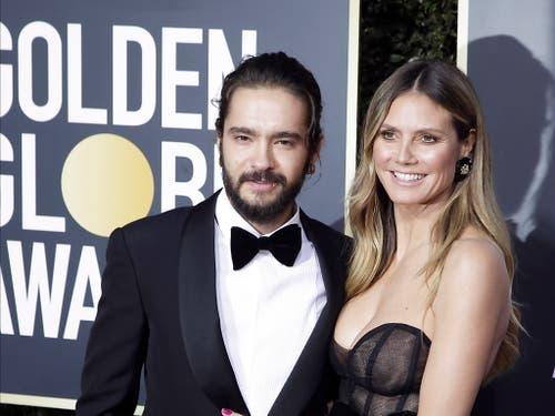 Das deutsche Model Heidi Klum zeigte sich mit dem gerade verlobten Partner Tom Kaulitz bei den Golden Globes. (Bild: KEYSTONE/EPA/MIKE NELSON)