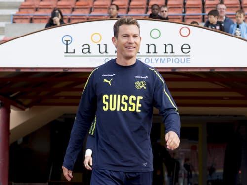 Dass der 35-Jährige trotz seines Alters zum Nationalteam gehört, macht ihn stolz (Bild: KEYSTONE/LAURENT GILLIERON)