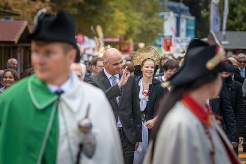 Bundesrat Alain Berset an der Olma-Eröffnung in St.Gallen. (Bild: Michel Canonica)